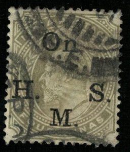 King Edward VII, 1903, 4 Annas, Overprinted: On  H.S.M. INDIA (Т-5982)