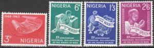 Nigeria #153-6  MNH   (K248)