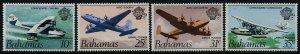Bahamas C1-4 MNH Aircraft