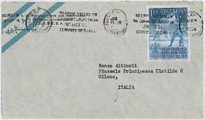 POLAR ANTARCTIC: ARGENTINA -  POSTAL HISTORY cover 1954