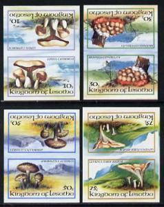 Lesotho 1983 Fungi set of 4 in unmounted mint imperf tete...