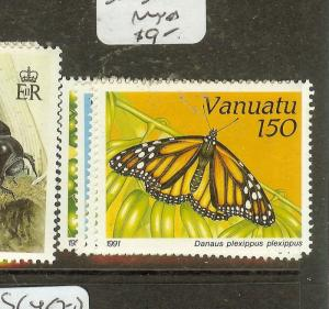 VANUATU (B1801) BUTTERFLY  SC532-5  MNH