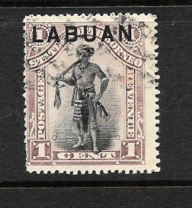 LABUAN   1894-96   1c  PICTORIAL  FU   SG 62