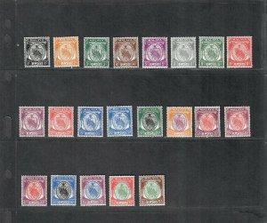 Malaya Negri Sembilan Sc#38-58 M/NH/VF, Cv. $125.35