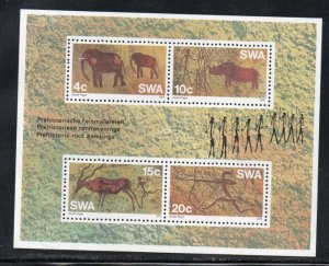 South West Africa Sc 387a 1976 Prehistoric Art  stamp sheet mint NH