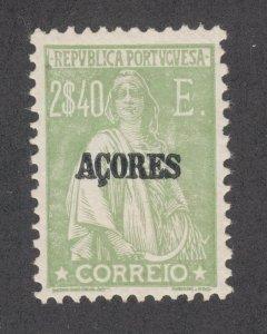 Azores Sc 237E MLH. 1930 2.40E apple green Ceres on glazed paper, VLH