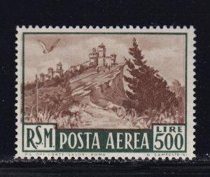 San Marino Scott # C78 VF OG lightly hinged nice color cv $ 110 ! see pic !