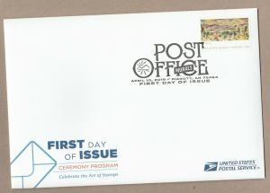US 5376 Post Office Murals Deming NM Ceremony Program FDC 2019