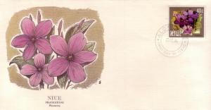 Niue FDC SC# 423 Frangipani Flower L249