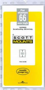 Prinz Scott Stamp Mount 66/240 BLACK Background Pack of 10