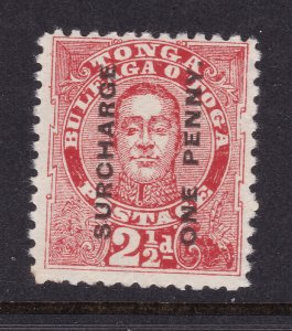 Tonga the 1895 surcharge 1d on 2.5d MH