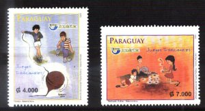 PARAGUAY 2010 UPAEP AMERICA TRADITIONAL CHILDREN GAMES ,MNH MI 5072-3