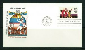 US 1983 Farnam First Day Cover FDC 1984 Olympics Volleyball Airmail Scott C111