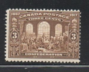 Canada 135 1917 3 c Fathers of Confederation stamp mint NH