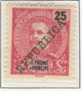Portugal ST. THOMAS AND PRINCE ISLANDS 1911 25r MH* A5P55F9