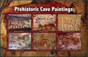 Tanzania 2017. Prehistoric Cave Paintings (MNH OG) Miniature Sheet