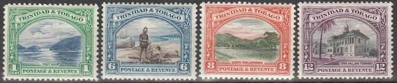 Trinidad & Tobago #34, 37-9  F-VF Unused  CV $13.90  (A7552)