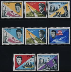 Yemen Arab Republic 216-216G MNH John F. Kennedy, Space, Rocket