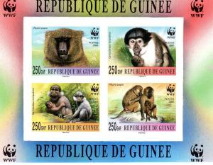 Guinea 2000 WWF Monkeys s/s Imperforated mnh.vf