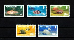 ASCENSION - 1983 - SHELLS - SEA SHELLS - MARINE LIFE + 5 X MINT - MNH SET!