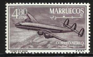 Morocco Northern Zone Air Mail 1956 Scott# C4 MH (gum disturbance)