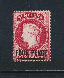 ST HELENA 1876, 4d WMK INV PERF 14x12½, VF MINT SG#24x CAT£170 $220 (SEE BELOW)