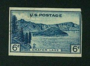 US 1935 6c dark blue Crater Lake Imperf, Scott 761 Mint NGAI, Value = $2.40