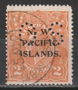 NWPI NEW GUINEA 1919 KGV OS 2D USED