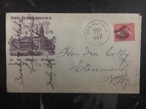 1897 Springfield VT USA Commercial Cover The Adna Brown Hotel