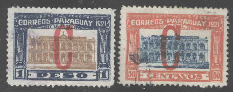 Paraguay Scott L1-L2 Used Interior stamps 1922