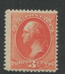 1887 US Stamp #214 Mint Hinged F/VF Original Gum Catalogue Value $60