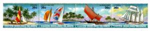 COCOS ISLAND 158 MH STRIP OF 4 SCV $6.50 BIN $3.00