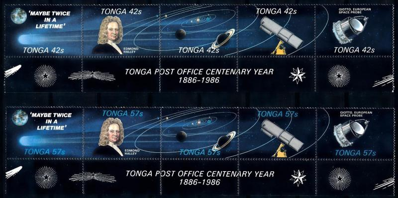 [66430] Tonga 1986 Space Travel Weltraum Halley Comet  MNH