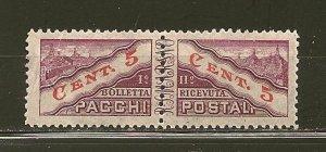 San Marino Q16 Parcel Post Se-Tenant Pair MNH