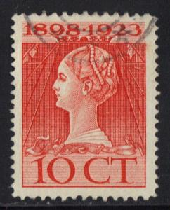Netherlands 1923  Used  Wilhelmina 10ct      #
