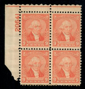 US Stamps Collection - Scott #714 Plate Block XF Mint NH CV $45