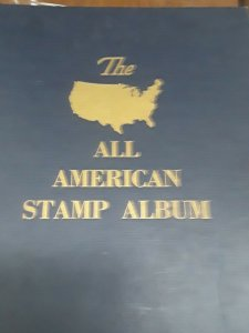 All American Stamp Album With Mint & Used Stamps