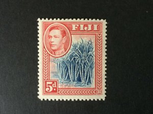 Fiji: 1938 KGVI definitive 5d Blue & Scarlet,  MLH