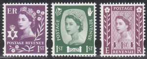 Great Britain, Northern Ireland 2600e Type A1, 2600h Type A2, 2600i Type A3 MNH