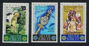 St. Kitts-Nevis Royal Silver Jubilee 3v SG#367-369