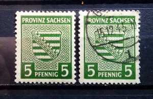 Germany Provinz Sachsen 75X mnh and used