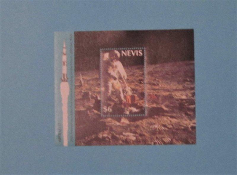 Nevis - 590 S/S. Moon Landing, 20th Anniversary. SCV - $4.00
