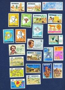 BOTSWANA - # 61 // 109 - VFMNH - seven sets from 1970-1974
