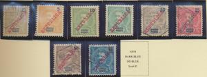 Lourenco Marques Stamp Scott #77-83, 85, Mint Hinged, Used - Free U.S. Shippi...