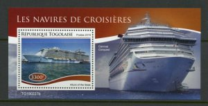 TOGO 2019 CRUISE SHIPS  SOUVENIR SHEET MINT NEVER HINGED