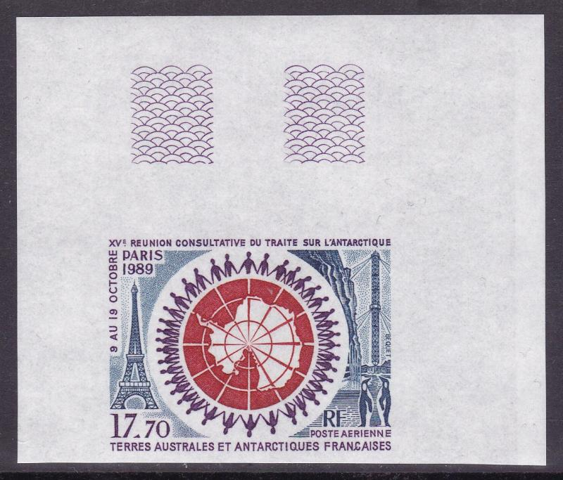 French Southern Antarctic Terr. 199 17.70fr. Airmail C108 Treaty Summit IMPERF