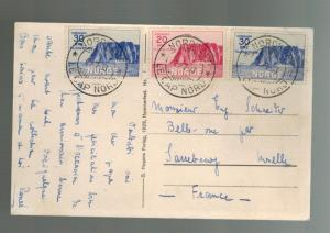 1933 Norway Northpole Cancel Picture Postcard Cover complete set # B1 B2 B3