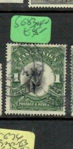 TANGANYIKA  (P2305B)  GIRAFFE  1/-    SG 83       VFU