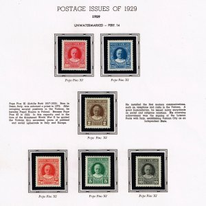 ITALY VATICAN CITY MH/OG STAMPS COLLECTION LOT #2  1929 Pope Pius XI   $60