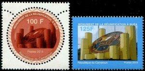 HERRICKSTAMP CAMEROUN Sc.# 981-82 Buea Reunification Monument